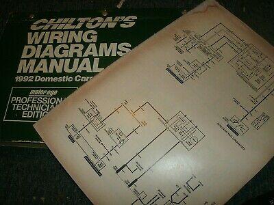 1992 PONTIAC BONNEVILLE AND SSEi WIRING DIAGRAMS MANUAL ...