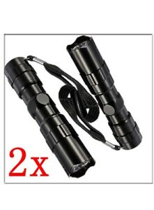 2Pcs 3W LED Super Bright Flashlight Medical Pen Light Small Torch Lamp Keychain