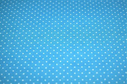 Printed Poplin 100/% Cotton Pin Spot 112 cm wide Micro Polka Dot 8 Colours