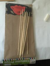 Photobooth Props on Sticks - 12 PCS LIP, MUSTACHES GLASSES EYES- Party phOTO