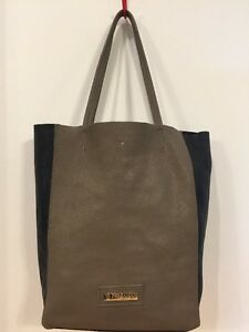 74a0f3be116 Details about Persaman New York Soft Leather Shopper Tote Bag Purse