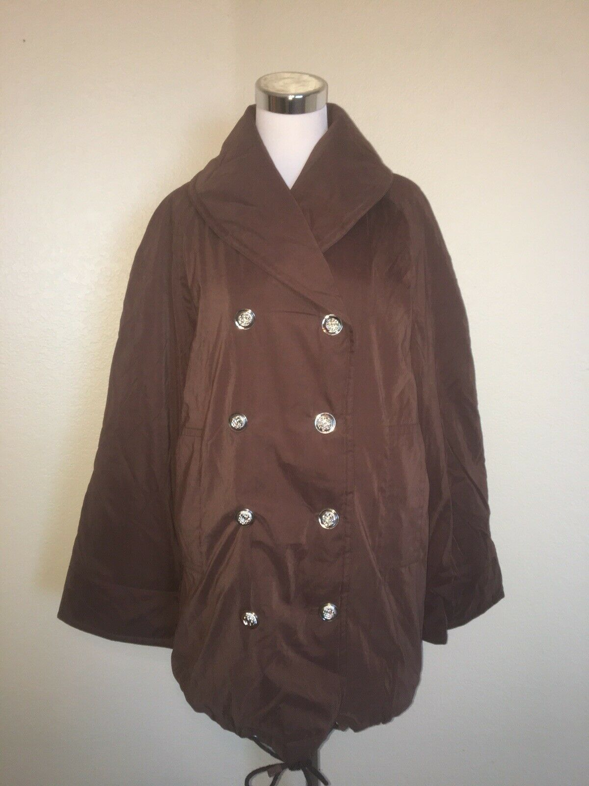JEAN LOUIS SCHERRER PARIS RAINWEAR BROWN PUFFER COAT  SIZE- XL