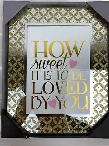 Cole Street Fine Crafted Frame 5x7 Picture Glitter Yellow Gold How Sweet To Love Ebay