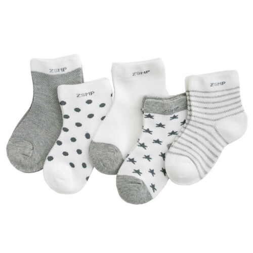 Lot 5 Pairs Baby Boy Girl Cartoon Cotton Socks Kids Toddler Infant Soft Sock