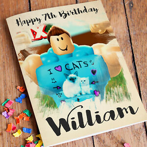 Image Is Loading ROBLOX Personalised Birthday Card FREE Shipping Son Grandson