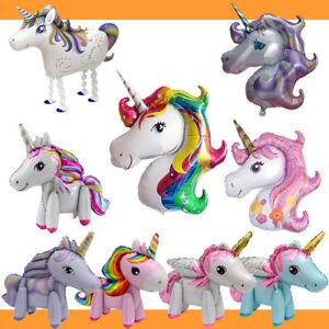 Einhorn-Ballon-Unicorn-Folienballon-Luftballon-Geburtstag-Fancy-Party-Regenbogen