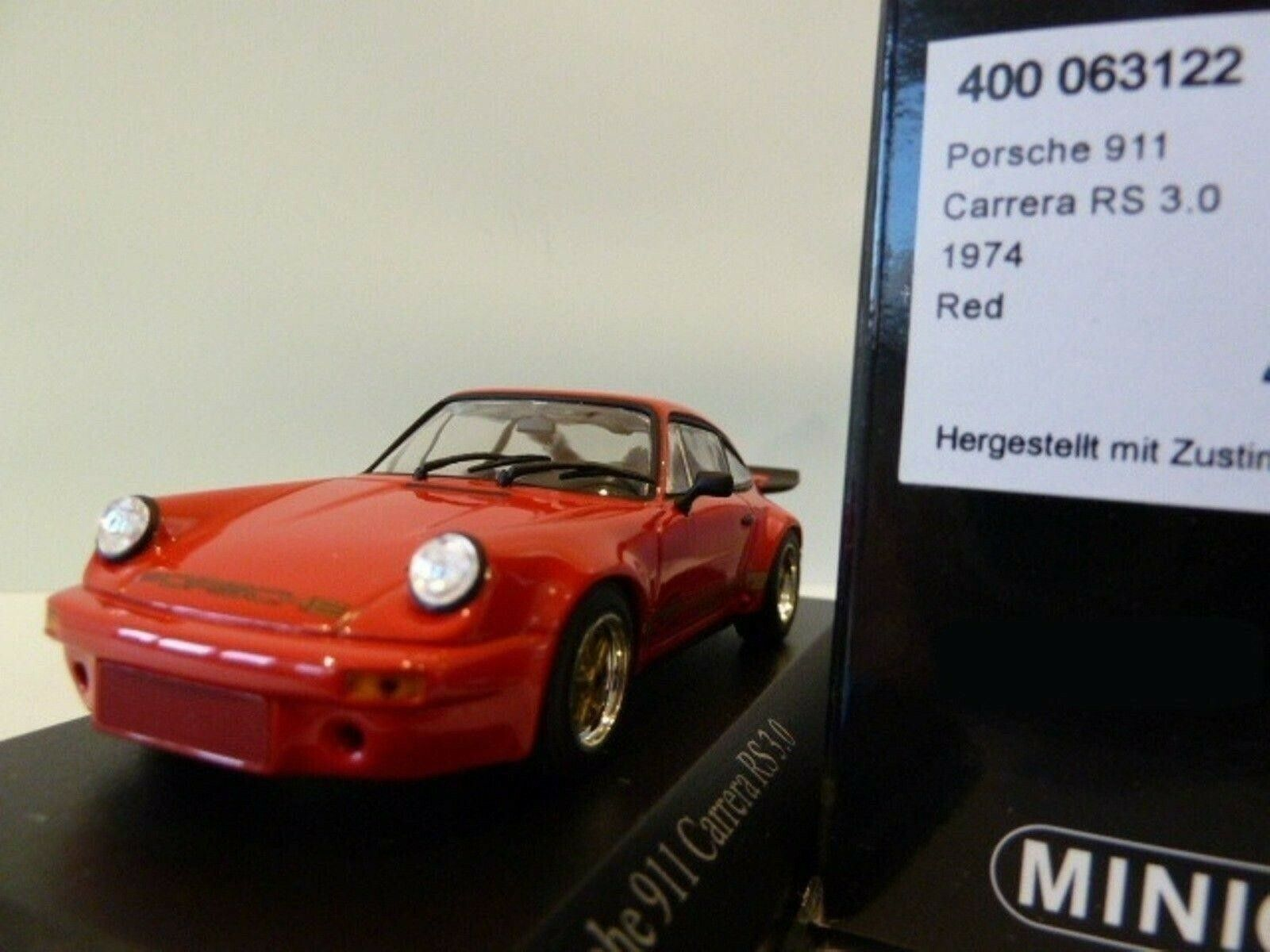 WOW EXTREMELY RARE Porsche 911 RSR 3.0 Red gold 1974 1 43 Minichamps-GT2 R S T