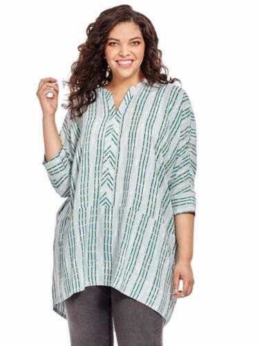 Melissa McCarthy Seven7 crepe blouse tunic long to