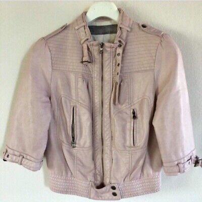 Giacca Zara cipria rosa L zip