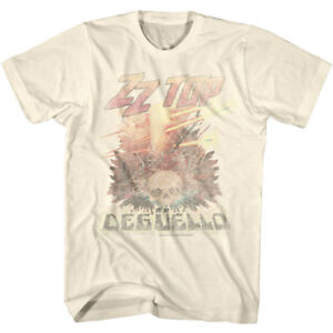 OFFICIAL-ZZ-Top-Deguello-Faded-Album-Cover-Men-039-s-T-shirt-Rock-Band-Merch
