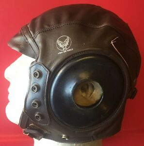 0c8ed2fe9a7 Image is loading USAAF-TYPE-A-11-LEATHER-FLYING-HELMET