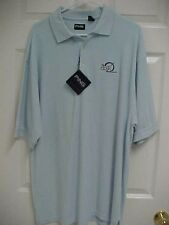 The 401K Store.com Men Faded Blue Sewn Short Sleeve Polo Shirt L Ping New Tags
