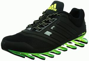 huge discount 90ebc ff660 Image is loading ADIDAS-SPRINGBLADE-DRIVE-2-MENS-RUNNING-TRAINERS-BLACK-