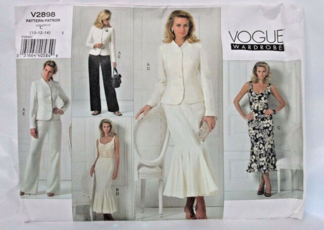 Vogue V40 Wardrobe Pattern Misses 40 40 40 Mermaid Dress Skirt Custom Mermaid Dress Pattern