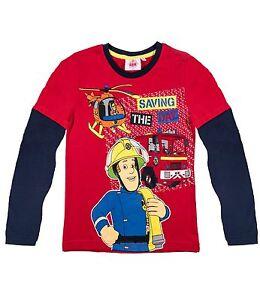 213680c2aba62 Feuerwehrmann Sam - Jungen Langarm Shirt 98 104 110 116 128