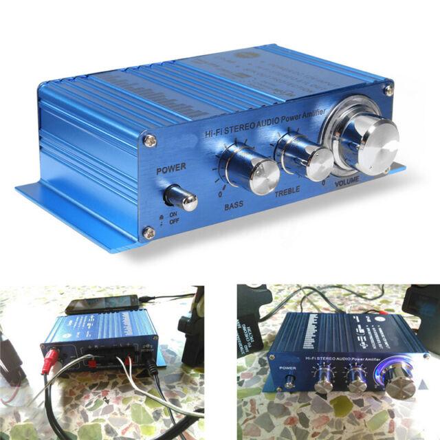 180W+180W 2CH 12V Mini Hi-Fi Audio Stereo Amplifier AMP Car Radio MP3 CD  !