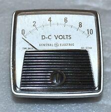 General Electric Model Dw 91 Panel Meter Dc Volts 0 10 Volt Vintage