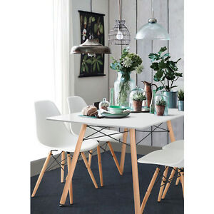 Image Is Loading White Dining Table Amp 4 Chairs Set Frame