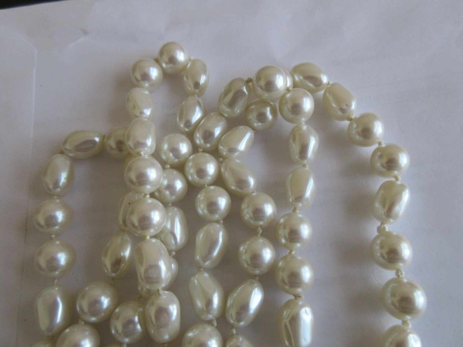 "Ladies Necklace , Pearls , Mixed Shapes & Sizes , 64"" L"