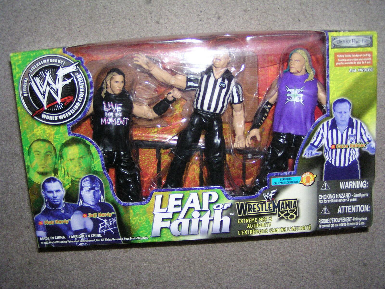 LJN Hasbro jakks Figuras WWF WM x8 LEAP of Faith Faith Faith - Hardy Boyz 3 Bowe c28