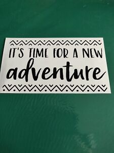 Let the Adventure Begin Logo-Voiture//Van//Camper//Vélo Autocollant Sticker Vinyle Graphique