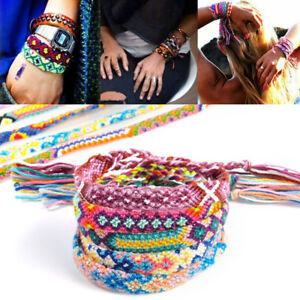 10PCS-Wholesale-Bulk-Strands-Handmade-Braid-Friendship-Cords-Bracelet-Wristband