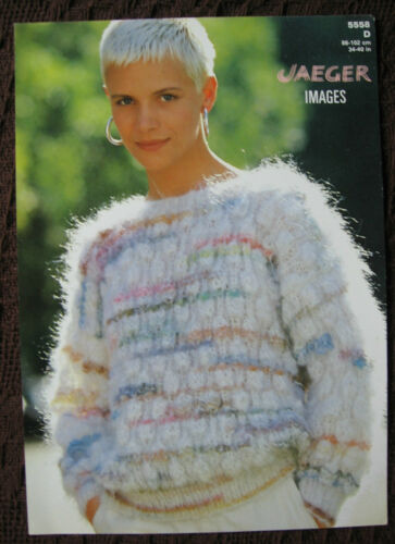 Carte knitting pattern ~ vintage 1980s jaeger 5558 pull femme women/'s lady/'s