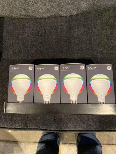C By GE BR30 700 Lumen Bluetooth Full Color Smart LED Indoor Flood Lights 4-Pack