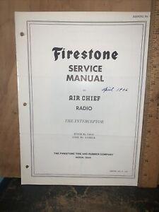 Air Chief Radio Model 4-A-23 -Service Manual- Schematics, Parts List. Firestone