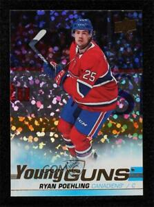 2019-20 Upper Deck Young Guns Speckled Rainbow Foil Ryan Poehling #226 Rookie RC