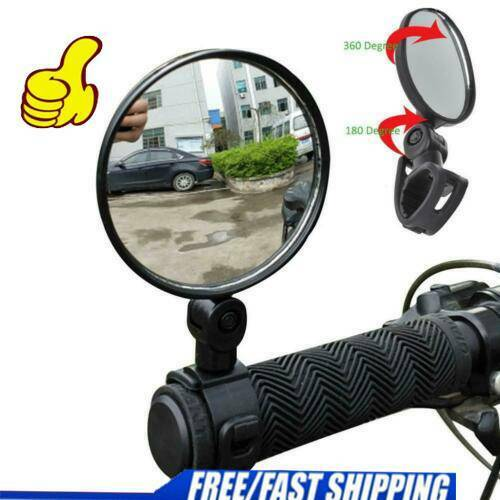 Hot Rotate Bicycle Cycling Bike Back Rear View Handlebar Safety Rearview Mirror