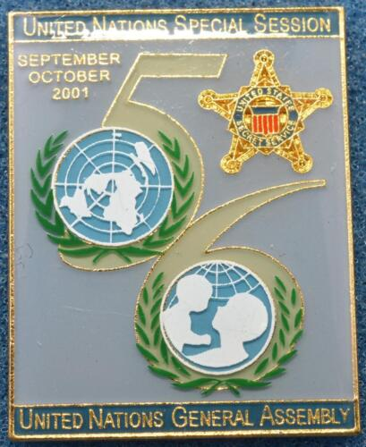 USSS Secret Service Lapel Pin 2001 New York UNGA 56 Special Session UN Assembly