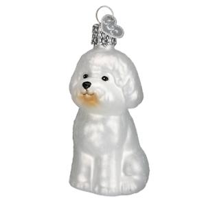 034-Bichon-Frise-034-12298-X-Old-World-Christmas-Glass-Ornament-w-OWC-Box
