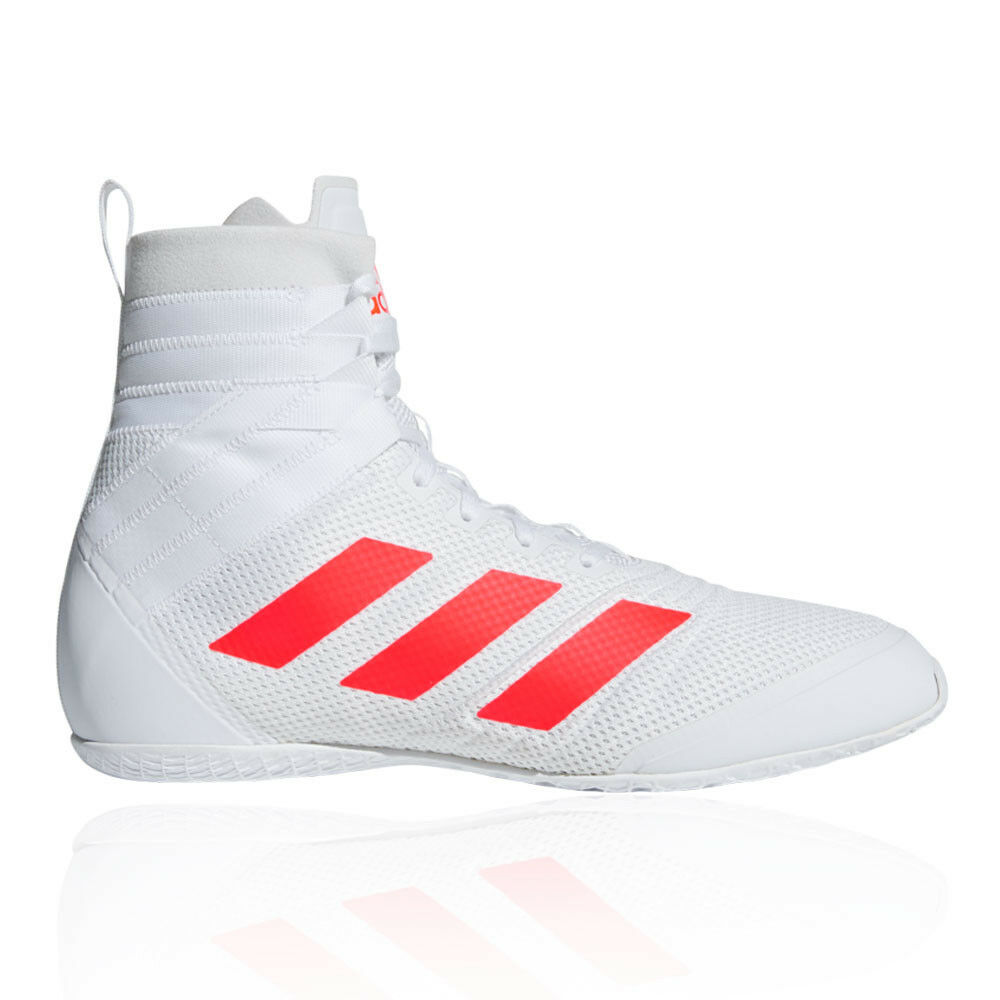 Adidas Mens Speedex 18 Boxing shoes White Sports Lightweight