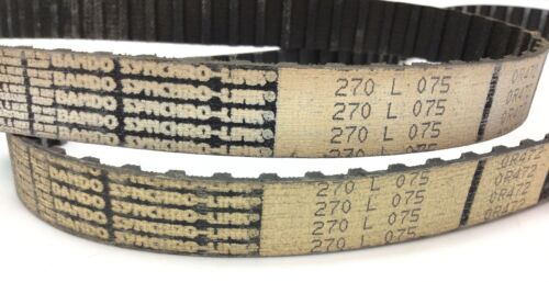 BANDO 270L-075 SYNCHRO-LINK SERIES TIMING BELTS SET OF 2 NEW