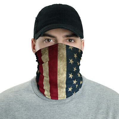 1//5//6 PCS Women Men Space Balaclava Tube Face Scarf Mask American Flag Print Mouth Cover Bandana Headwear