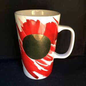 Starbucks-Coffee-Mug-Gold-Dot-Collection-Red-Watercolor-16-oz-2014-Ceramic-Cup