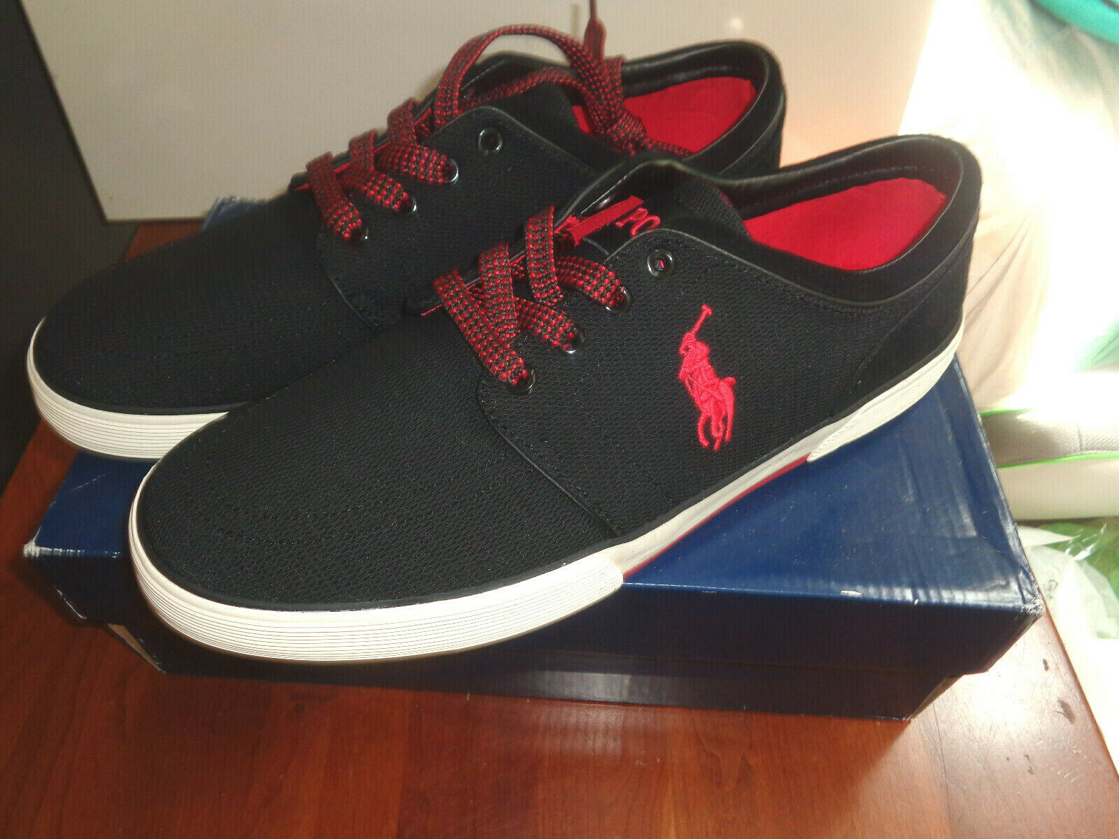 Polo Ralph Lauren Men's Faxon SK VLC Sneaker shoes boat NEW SIZE 13 M