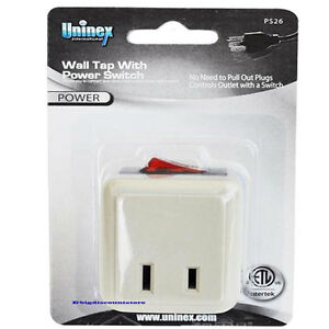 Wall Tap Switch Electrical Plug Outlet Onoff W Led Power Indicator
