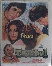 "1978 ""TRISHUL"" BOLLYWOOD MOVIE POSTER ,AMITABH BACHCHAN,SANJEEV KUMAR #60"
