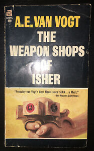 The Weapon Shops of Isher by A.E. Van Vogt 1951 1st Edition VTG Paperback -SciFi
