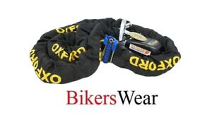 OXFORD-Gold-Series-1-2m-Motorcycle-Security-Chain-amp-Padlock-Thatcham-approved
