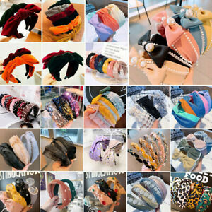 Women-Wide-Cross-Bowknot-Headband-Stretch-Hairband-Elastic-Hair-Band-Turban-Hoop
