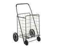 Grocery Cart On Wheels Laundry Shopping Folding Storage Toy Craft Utility Black
