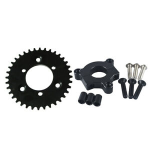 Black-CNC-36T-Sprocket-With-Adapter-Fit-415-chain-80cc-Motorized-Bicycle