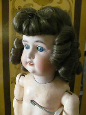 Antique Bisque Doll Wig Light Brown Hair with Curls Size 11 New Old Stock in Box