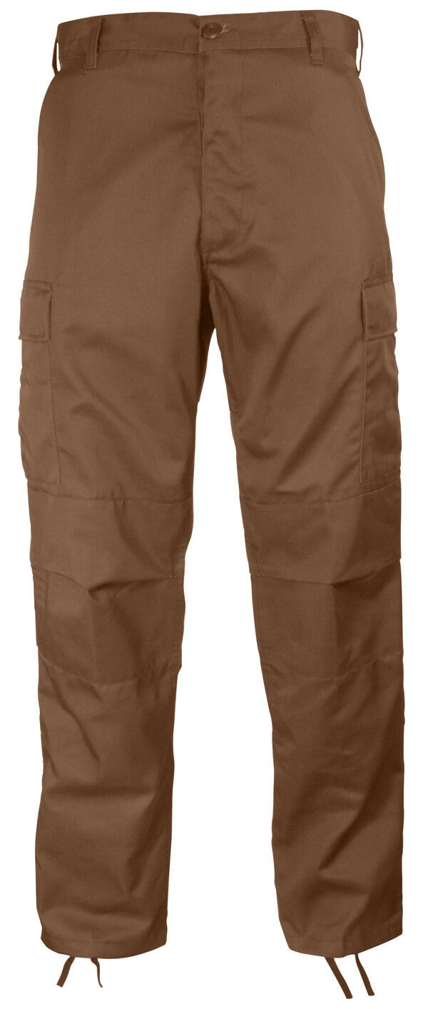 Military style bdu pants cargo trousers brown redhco 8578