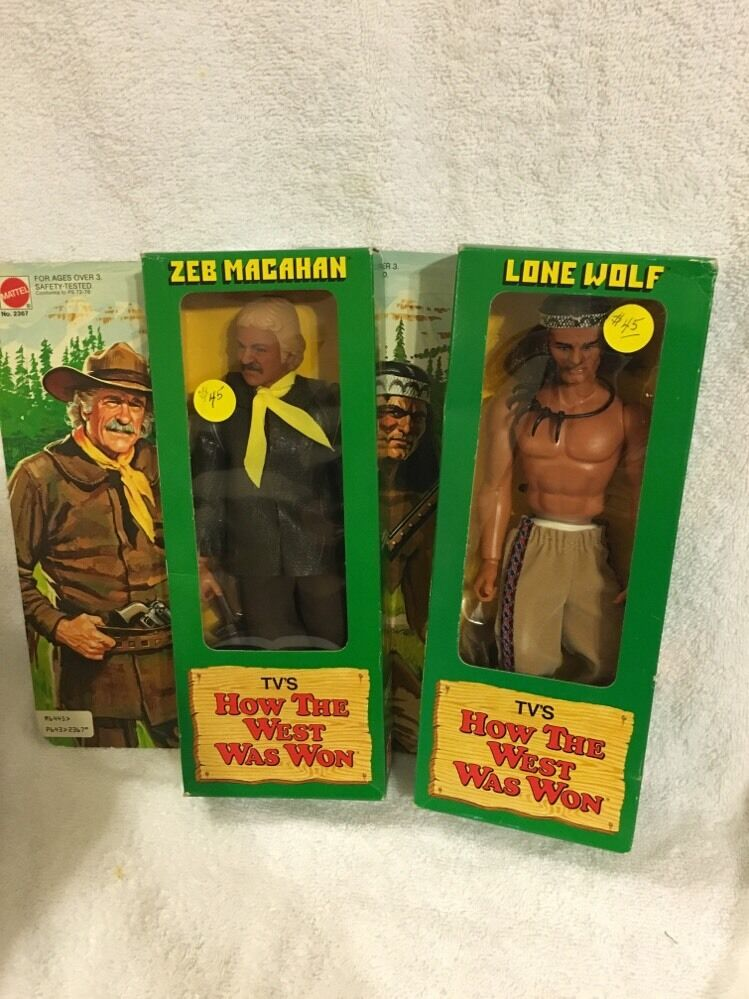 1978 Mattel  How The West Was Won  Zeb Macahan & Lone Wolf Action Figures