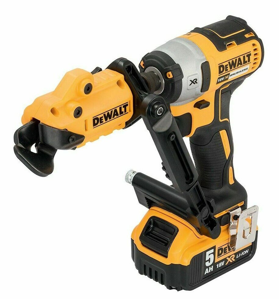 DeWalt IMPACT SHEAR ATTACHMENT DT70620QZ 18Ga 360° Rotating Head USA Brand