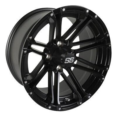 1 Golf Cart Ss Voyager 14 Inch Matte Black Wheel With 3 4 Offset Ebay